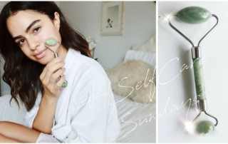 Super star are using rose quartz jade roller